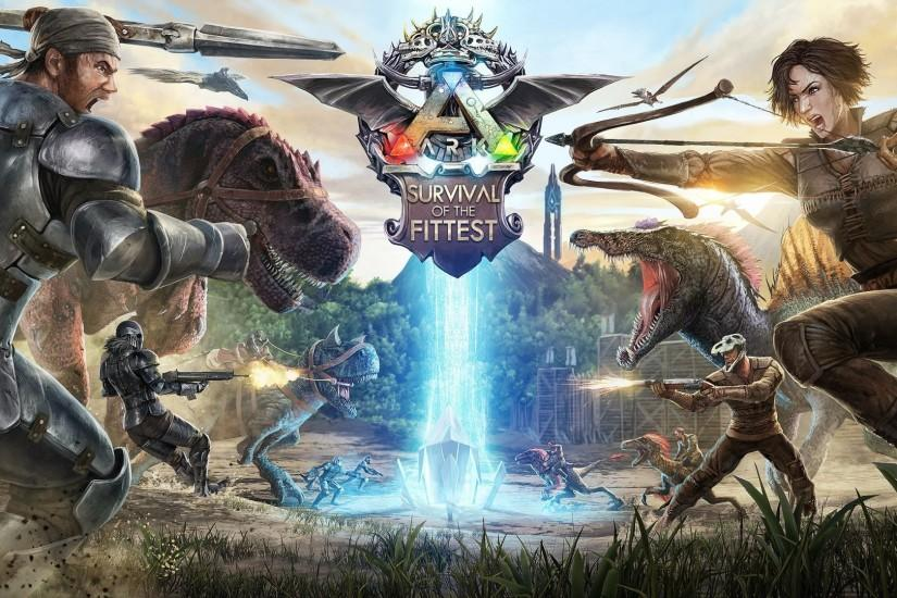 ARK survival evolved dinosaur exploration adventure monster creature 1asev  action fighting poster wallpaper | 1920x1080 | 819017 | WallpaperUP