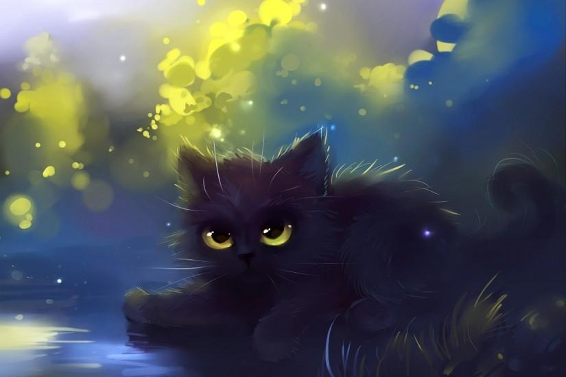 By Apofiss * Cute black cat wallpaper - ForWallpaper.com
