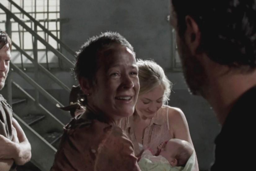 baby judith walking dead | ... with Daryl and Carol in prison, with