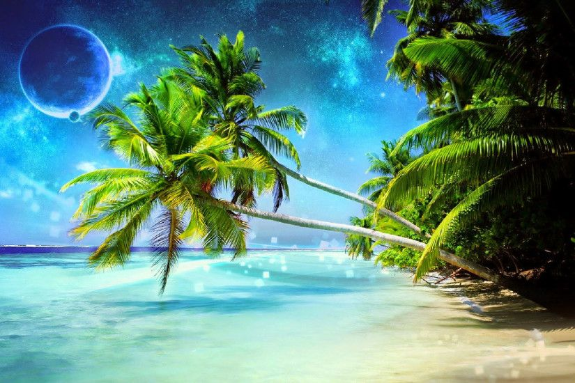 3D Beach Wallpaper. beautiful ...