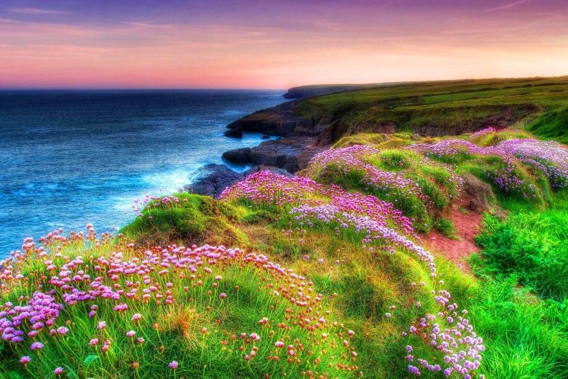 "3840x2160 Landscape Ocean Shore Sea Green Grass, Spring Flowers Dunmore  East""> · Download · 1920x1200 34+ Ireland Wallpaper"