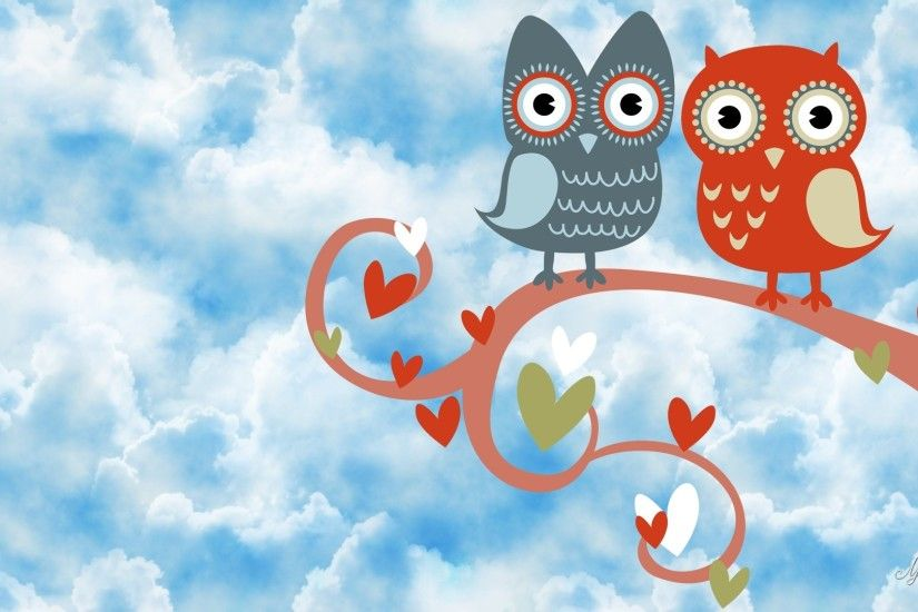 My Owl Barn: Valentine's Day iPhone Wallpaper