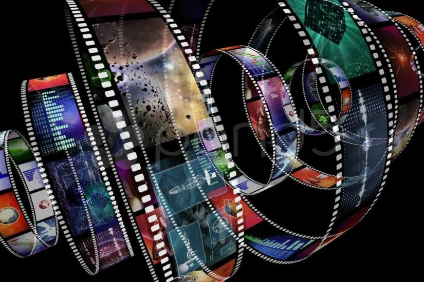 Visual Paradox Free 3D Wallpaper 'Celluloid' multiple wallpaper sizes  Vintage Movie Film Strip With Countdown ...
