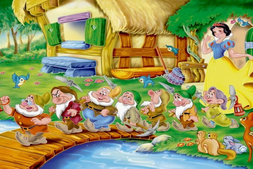 Princess Snow White Seven Dwarfs Go To Work In A Mine Hd Wallpapers  1920×1200