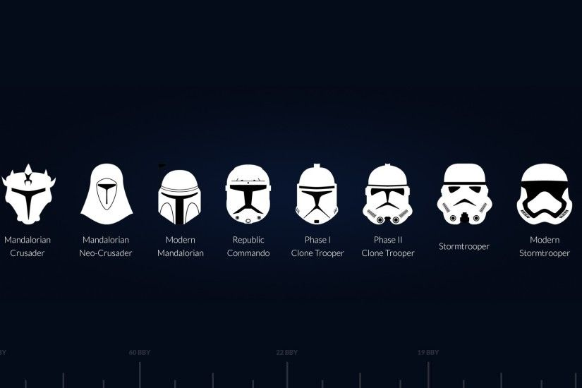 All the trooper helmets ...
