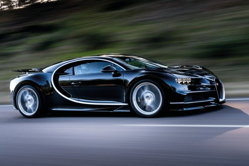 Preview wallpaper bugatti, chiron, speed, side view 3840x2160
