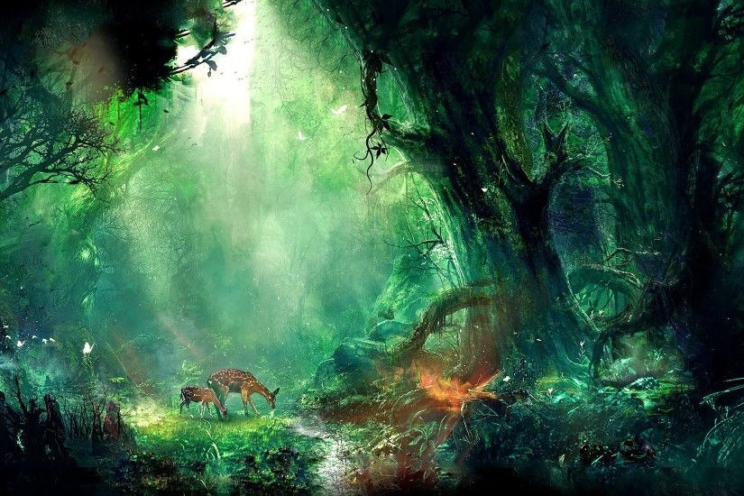 1920x1080 fantasy forest wallpaper hd