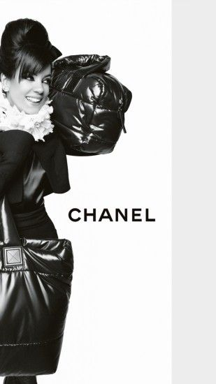 1440x2560 Wallpaper chanel, lily allen, girl, bag, nice, delight