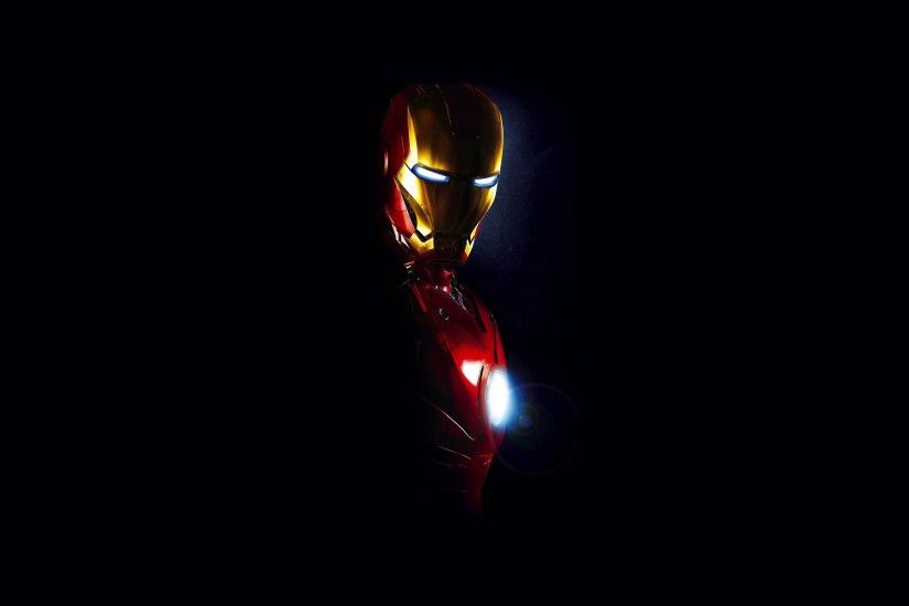 Cool Picture of Iron Man Photo with Dark Background | HD .
