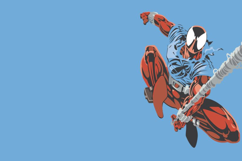 Got some love from my other Spider-Man wallpapers, and was requested to do  Scarlet Spider.