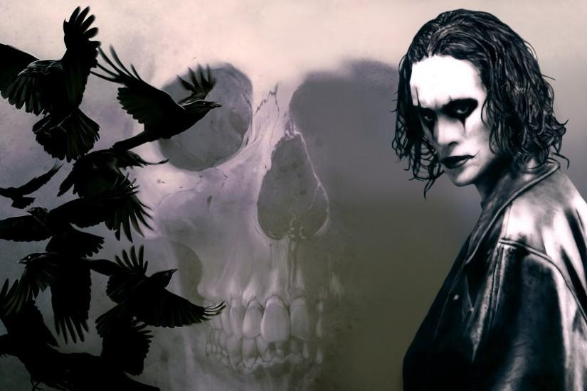 A cut and paste photoshop picture I put together and transformed into a  Brandon Lee film The Crow wallpaper, hope you like. The Crow Wallpaper