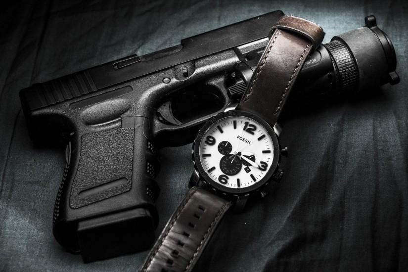 glock self-loading gun weapon watches