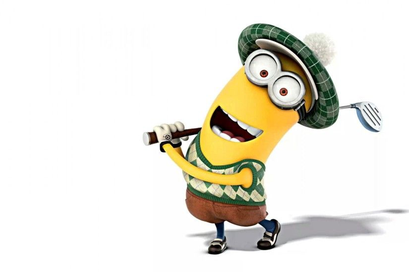 kevin minion despicable me 2 golf happy