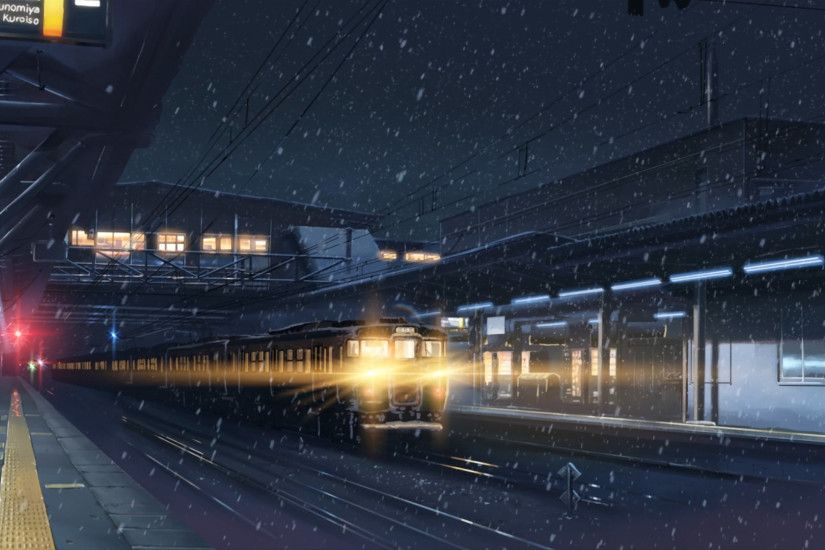 centimeters per second wallpaper Google Search aesthetic