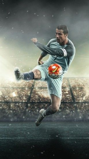 Cristiano Ronaldo Football iPhone Wallpaper