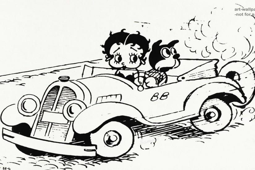 Images For > Betty Boop Black And White