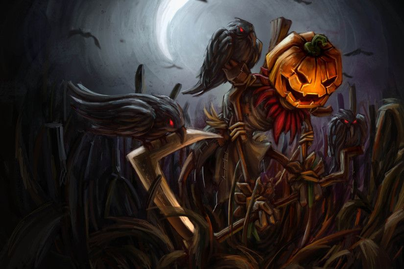 Pumpkin Head Fiddlesticks by thanabe