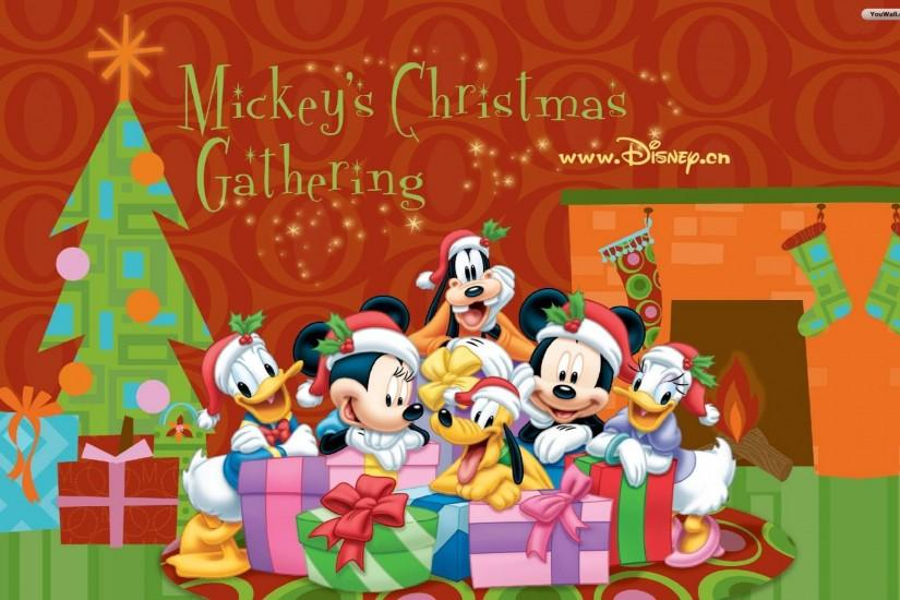 Christmas With The Disney Characters Wallpaper