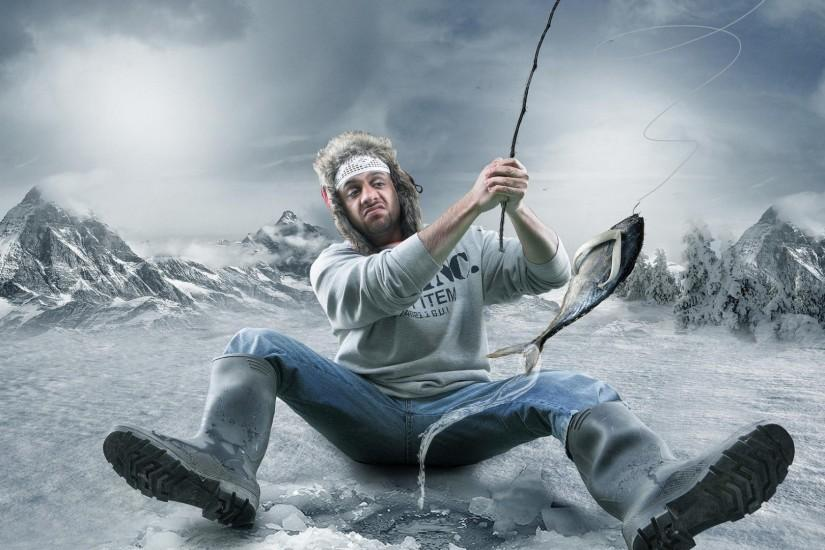 Ice fishing wallpaper - Artistic wallpapers - #30200