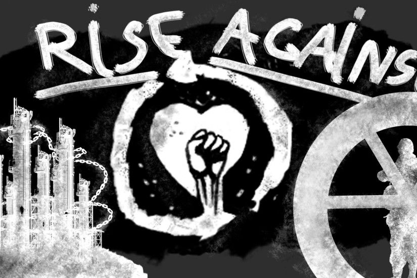 1920x1080 Wallpaper rise against, graphics, name, symbol, picture