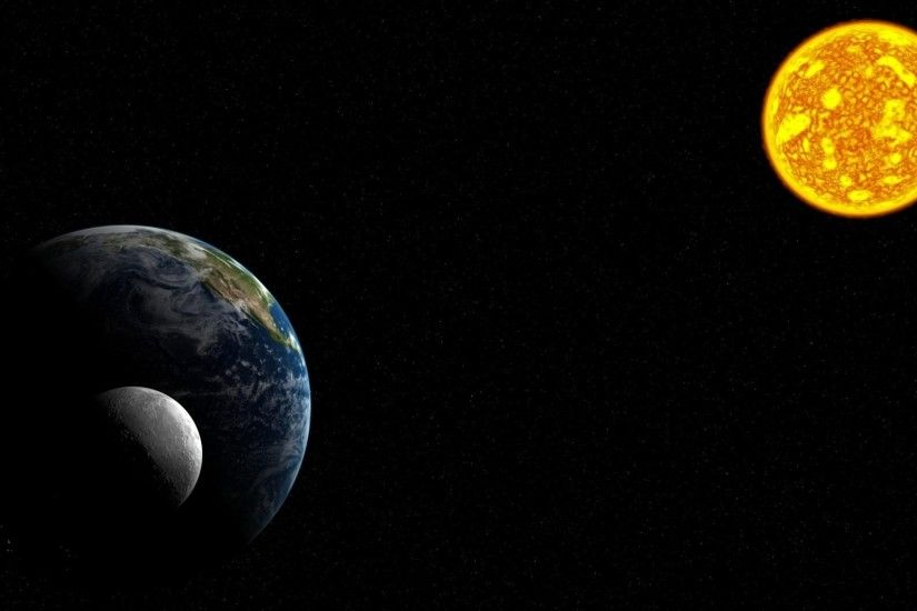 Preview wallpaper solar system, planets, moon, earth, sun, space 3840x2160