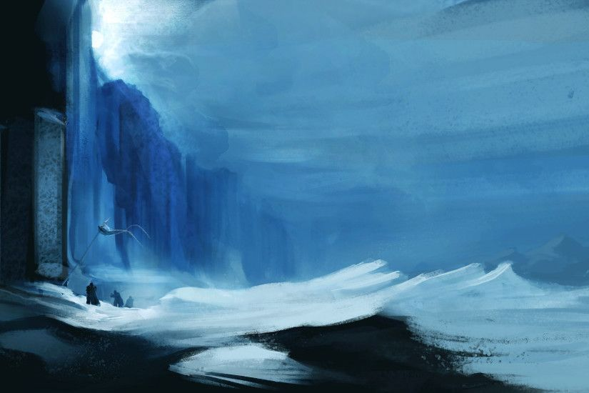 ... a 1920x1080 painting of the Wall ...