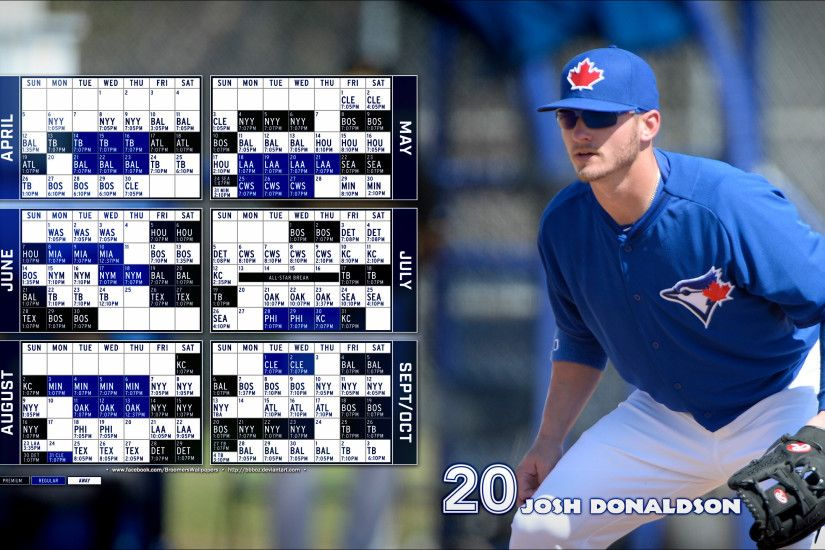 2015 Toronto Blue Jays schedule Wallpaper 16x9 by bbboz on .