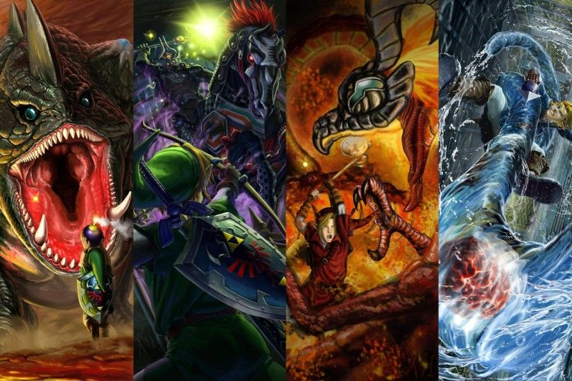 Ocarina of Time boss battles (Gohma, Dodongo, Phantom Ganon, Volvagia,  Morpha, & Bongo Bongo) wallpaper ...