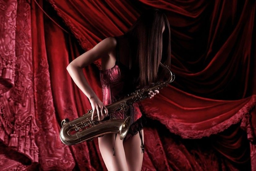 Playing The Saxophone