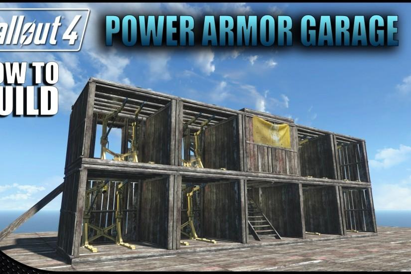 Fallout 4 - How to Build a Power Armor Garage | Settlement Building Ideas -  YouTube