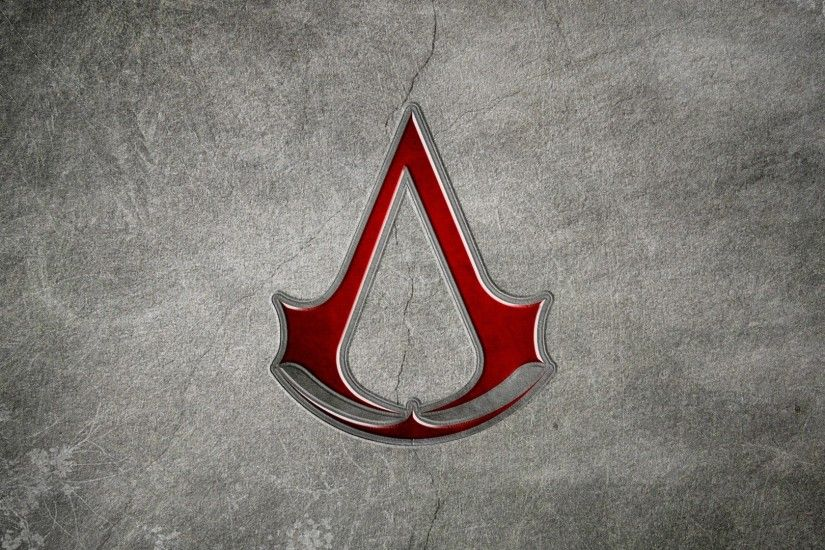 Preview wallpaper assassins creed, assassins symbol, background, graphics,  red 1920x1080