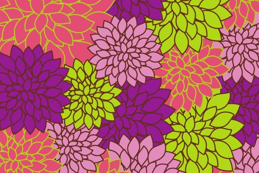 Floral Background Bright Colorful