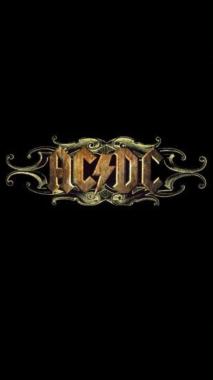 Acdc Rock Band Logo Iphone 6 Plus Hd Wallpaper / Ipod Wallpaper Hd