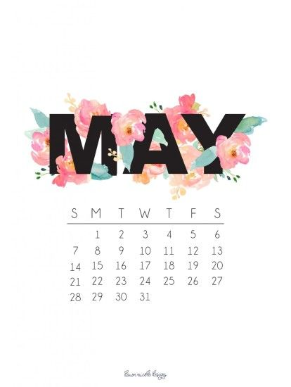 May 2017 Calendar + Tech Pretties. ""