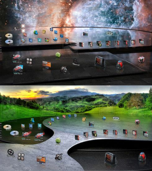... Scenario Apocalypse with new 3D wallpapers. by Fiazi