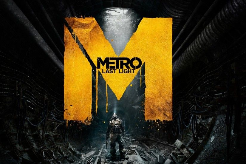 1920x1080 Wallpaper metro last light, game, sign, people, underground