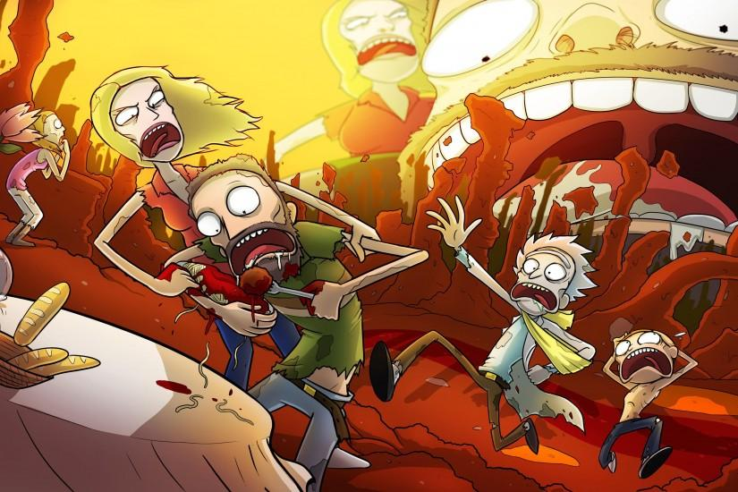 rick and morty background 3556x2000 windows xp