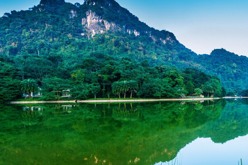 Vietnam, Nature Reserve, Lake, Mount Scenery, Reflection Wallpaper in  2560x1440 Resolution