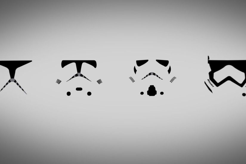 General 1920x1080 Star Wars simple clone trooper minimalism digital art