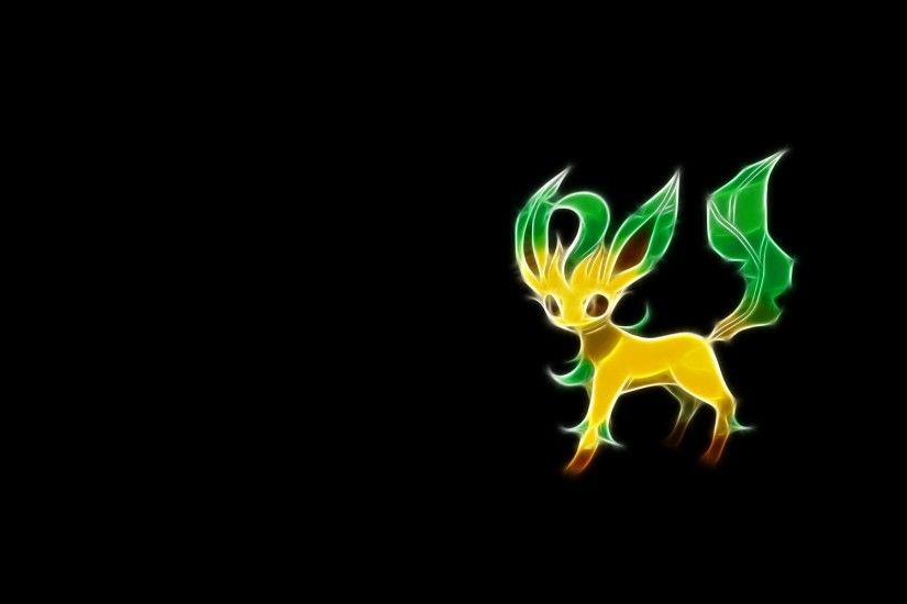 Pokemon Fractalius Simple Background Black Background Wallpaper At Fractal  Wallpapers