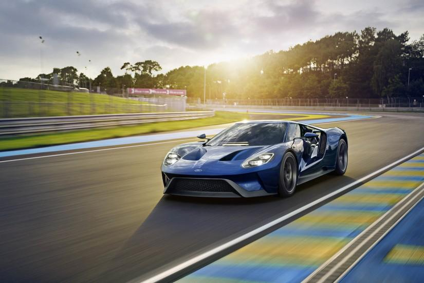 Preview wallpaper ford, gt, sports car, track 3840x2160