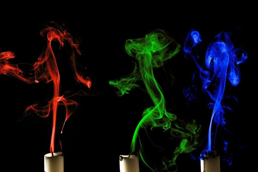 candles abstract 3d smoke Candles abstract 3d smoke candle color wallpaper  | 1920x1200