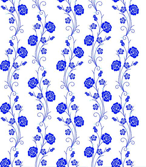 Vertical Floral Pattern Without Background