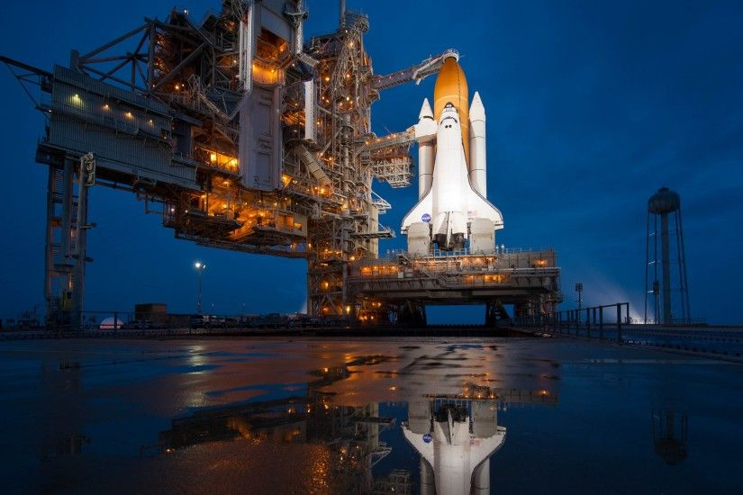 The 2nd HD wallpaper with the NASA Atlantis shuttle on the launch platform
