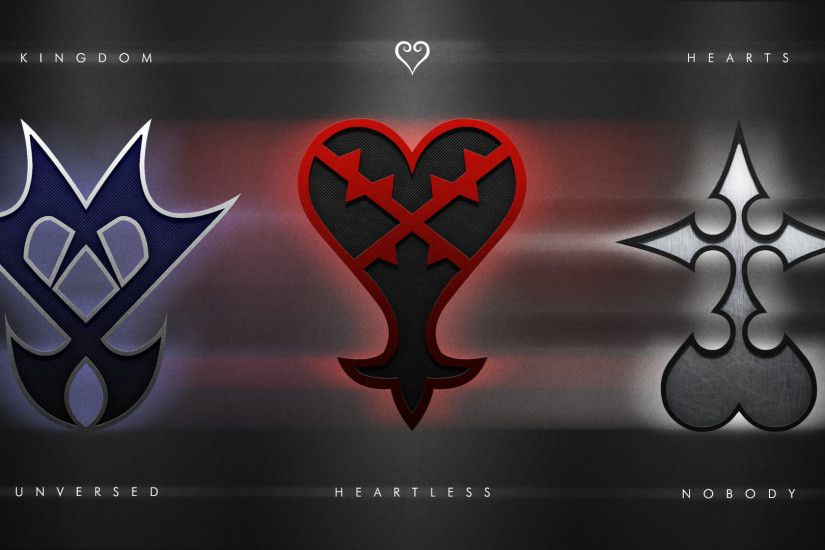 Wallpaper with all 3 of the Kingdom Hearts emblems I did so far; Unversed,  Heartless and Nobody. Individual wallpapers here: Unversed - [link]  Heartless.