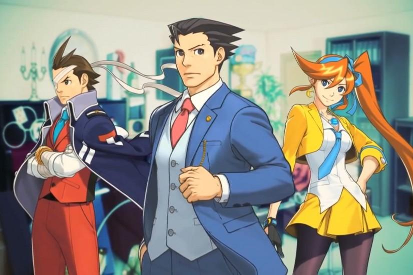 Anime Ace Attorney Background.