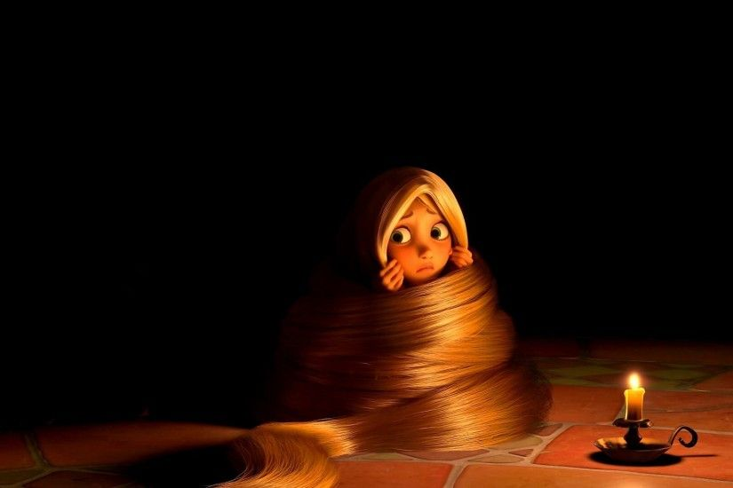 Animated Movies Black Background Candles Disney Rapunzel
