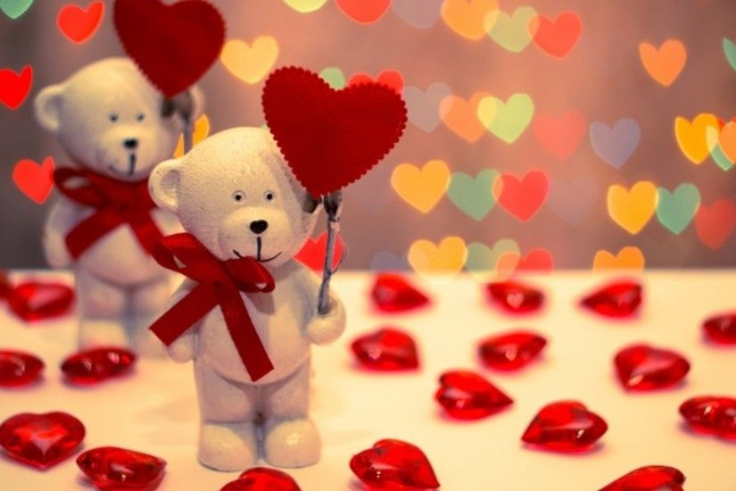 Cute Teddy Bear Holding Heart Wallpaper 12993