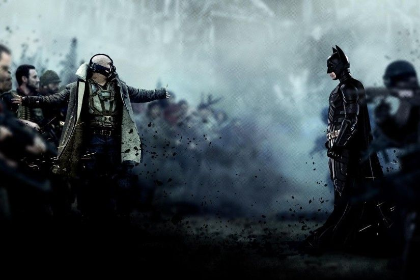 Bane and Batman - The Dark Knight Rises HD Wallpaper 1920x1080