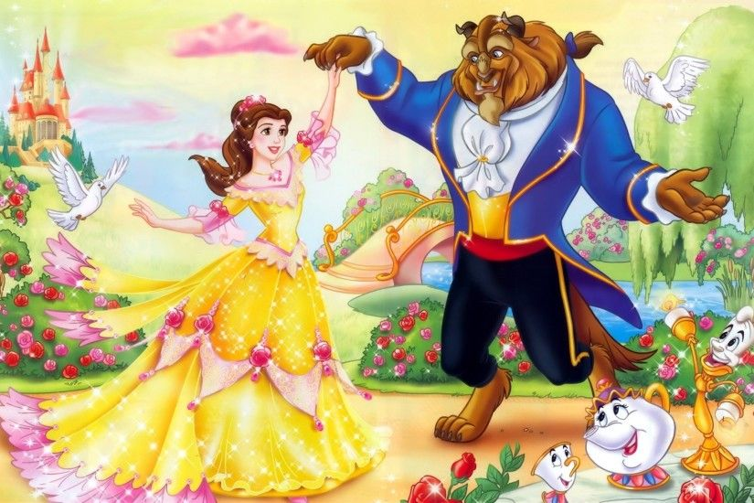 Belle And Beast Disney Wallpaper Widescreen Hd Desktop Wallpapers